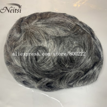 Wig Hair-Piece Replacement-Systems Toupee Lace-Frontal Remy-Hair Mens Indian PU And Neitsi