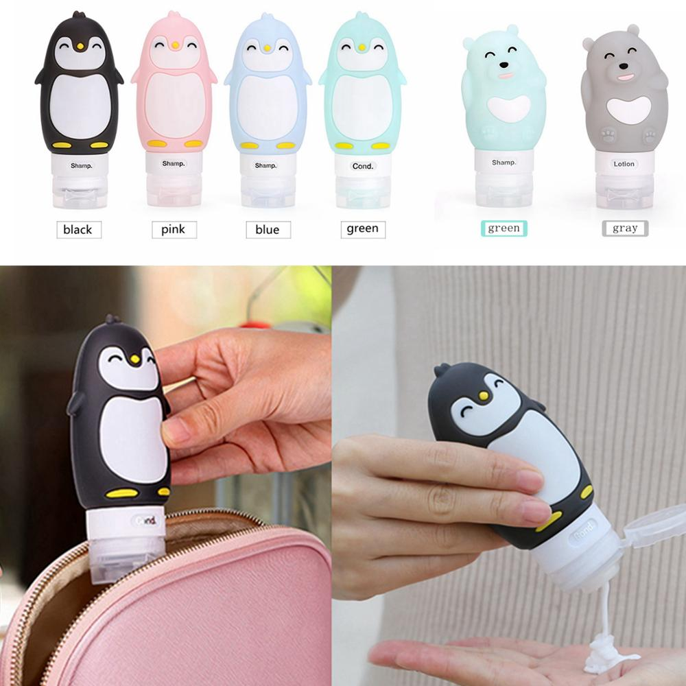 60/80/90ml Cute Portable Travel Packaging Bottles Cosmetic Shampoo Shower Gel Lotion Packaging Bottles Silicone Beauty Bottles