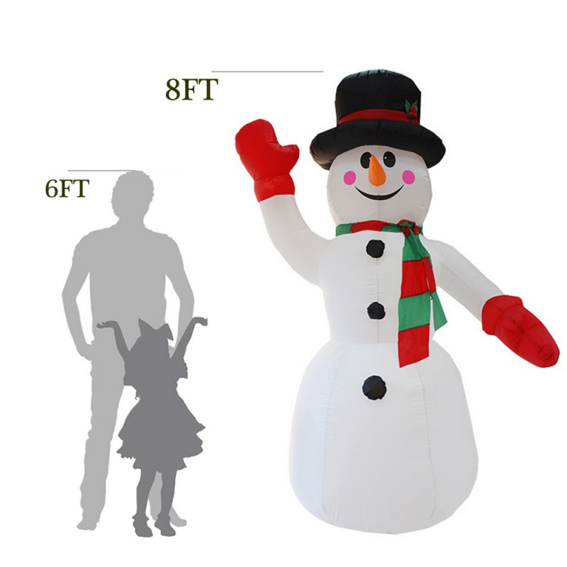 2.4M Height Christmas Blower Party Light Supplies Christmas Inflatable Light For Outdoor Party Snowman Home Decoration