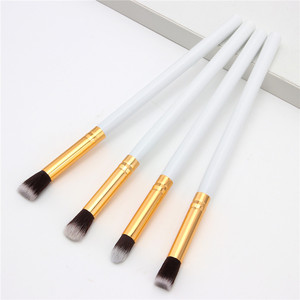 Image 5 - SAIANTTH 4pcs eyes brushes set makeup black gold long thin eyeliner eyeshadow brush kit maquiagem protable beauty tool Masca
