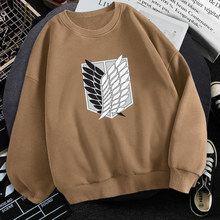 Mens/women Attack on Titan Man Hoodies Graphic Anime Sweatshirts Hoody Fleece Casual Pullover Survey Corps Harajuku Streetwear