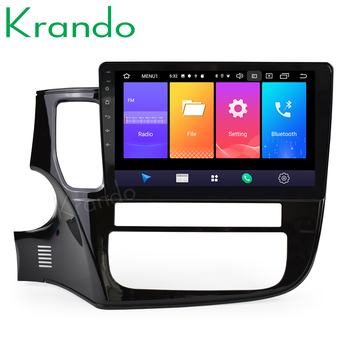 Krando Android 9.0 10.1 IPS touch car multimedia player for MITSUBISHI Outlander 2014- 2017 GPS navigation system No 2din DVD image