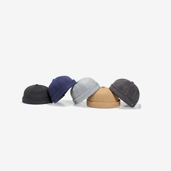 Męska tablica świetlna kapelusz moda nowa moda męska moda uliczna kapelusz hip-hop bez ronda Melon skóry kapelusz tanie i dobre opinie M173 Regulowany Stałe Akrylowe