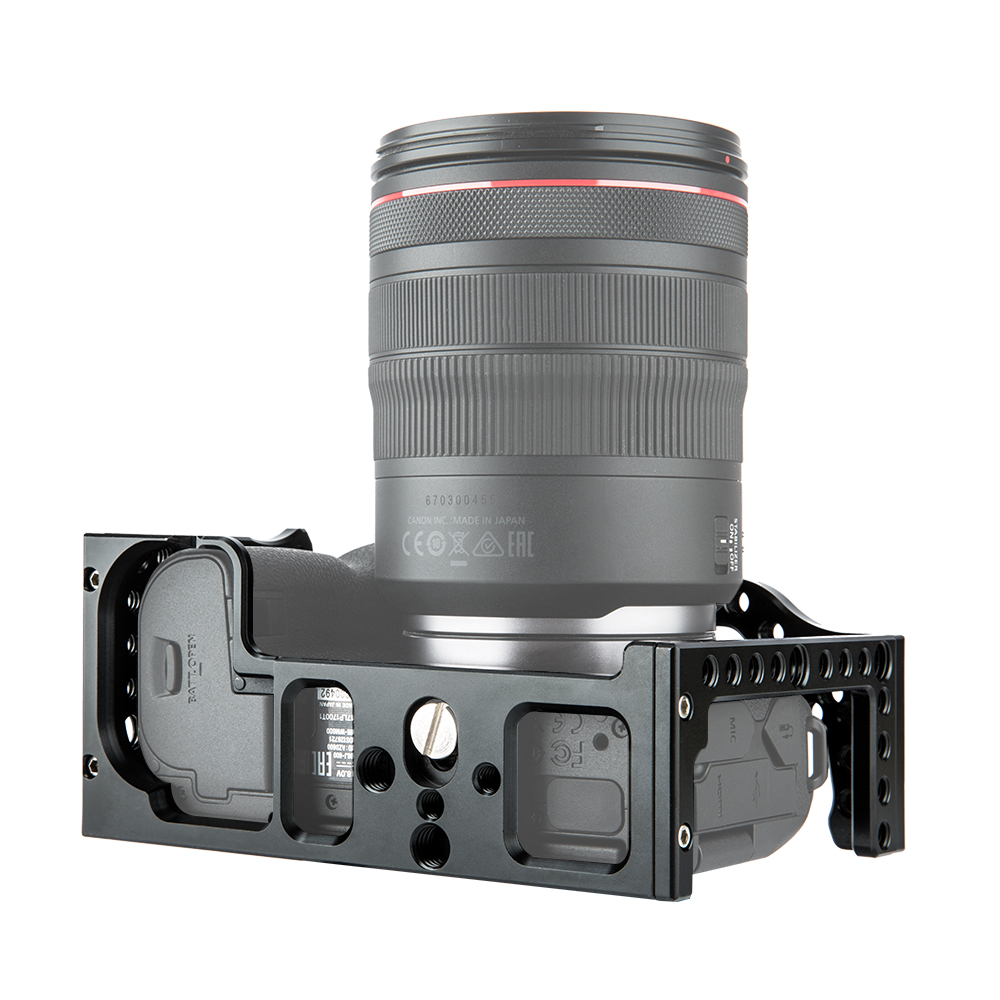 Caméra en aluminium Cage Film vidéo Film faisant la plate-forme stabilisateur pour Canon EOS R monture de chaussure froide bras magique Microphone moniteur - 5