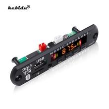 Kebidu Bluetooth 5,0 Car Kit Drahtlose MP3 Decoder Board Audio 12V WMA Auto Musik Player Modul Verlustfreie Audio USB AUX TF Radio