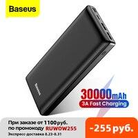 Baseus-Banco de energía de 30000mAh, cargador de batería externo portátil, USB C, para Xiaomi, iPhone 12 Pro