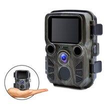 Mini câmera de caça 1080 p 12mp visão noturna trail câmera foto armadilhas animais selvagens ao ar livre câmera com ir leds scout animal câmera