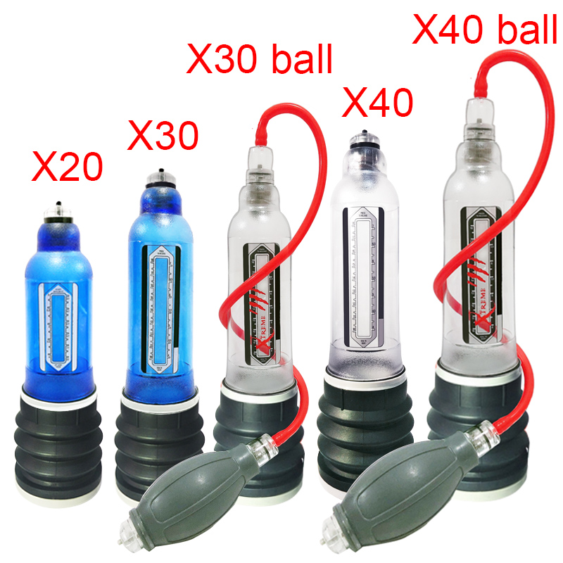 X20 X30 X40 Penis Pump Penis Enlargement Cock Enlarge Water Penis Extender Vacuum Pump For Men Dick Erection Sex Toy For Gay Men
