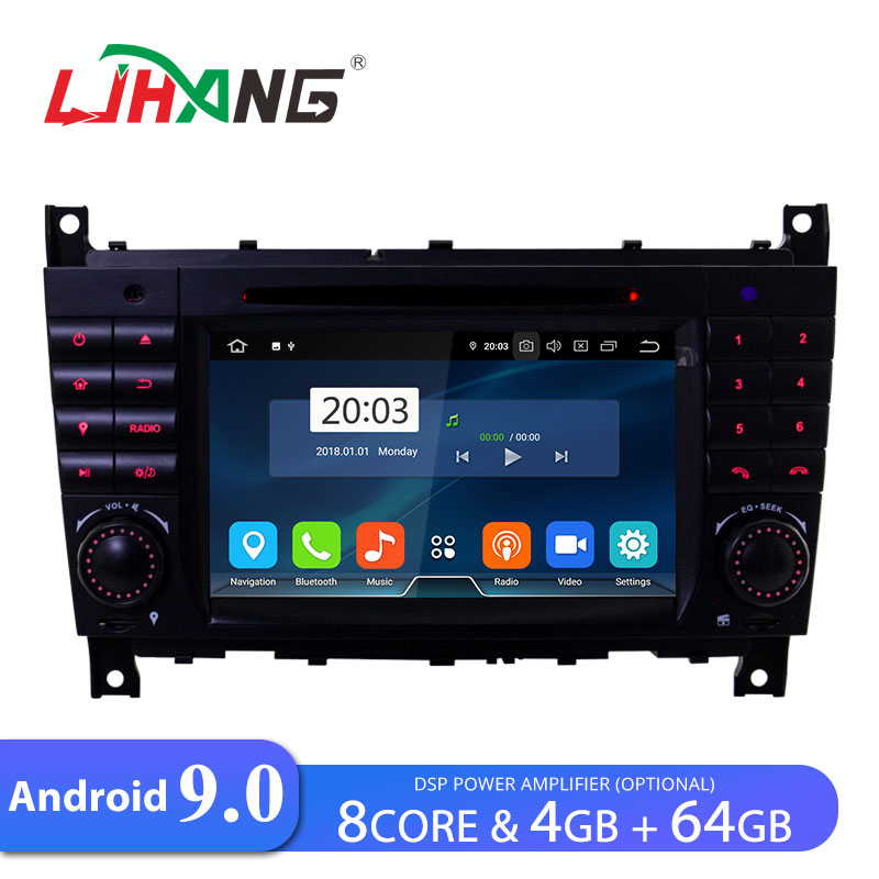 LJHANG Car DVD Player Android 9.0 For Mercedes <font><b>Benz</b></font> <font><b>W203</b></font> CLK200 CLK22 C180 C200 GPS <font><b>Navi</b></font> WIFI Car <font><b>Radio</b></font> 2 Din Multimedia Stereo image
