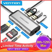 Vention Hub USB Type C vers Adaptateur HDMI 4K RJ45 VGA USB 3.0 Moyeu pour Macbook Air Pro Huawei USB-C Type-c 3.1 Répartiteur USB Hub