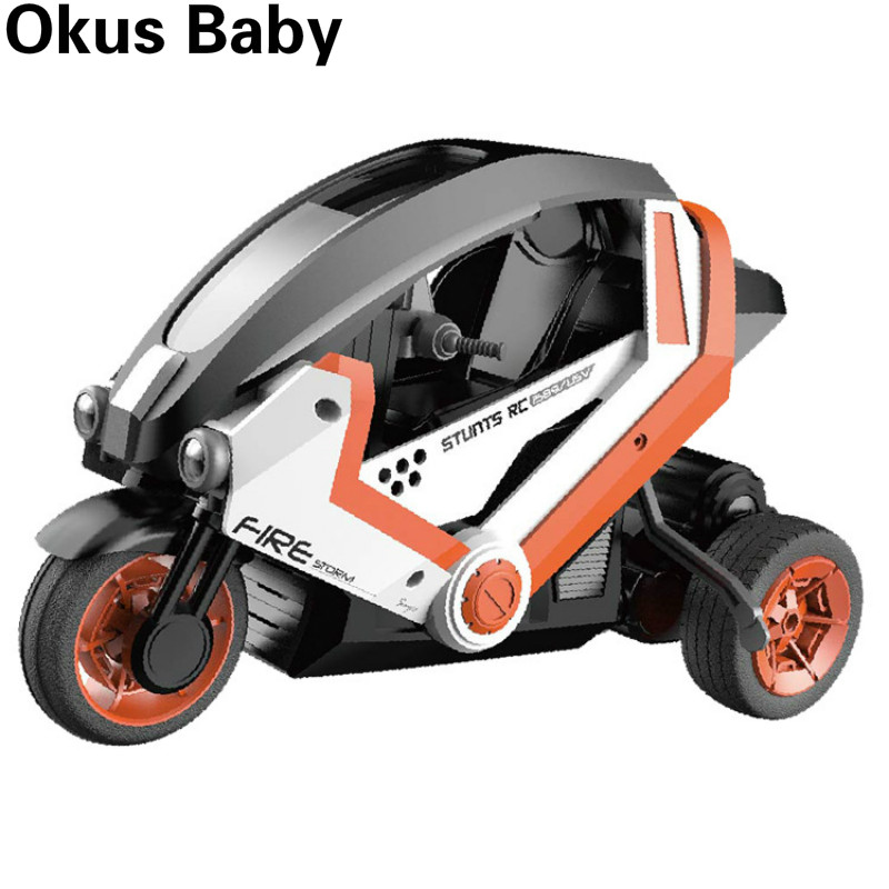 2.4G RC Car Remote Control Stunt Motorcycle Children's Electric Racing Motorbike with Cool Light Toys for Children Boy Gift