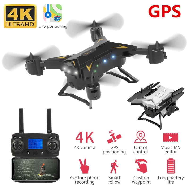 Profession Drone GPS 4k drone HD 5G WIFI FPV drone flight 20 minutes quadcopter remote control distance 2km drone camera title=