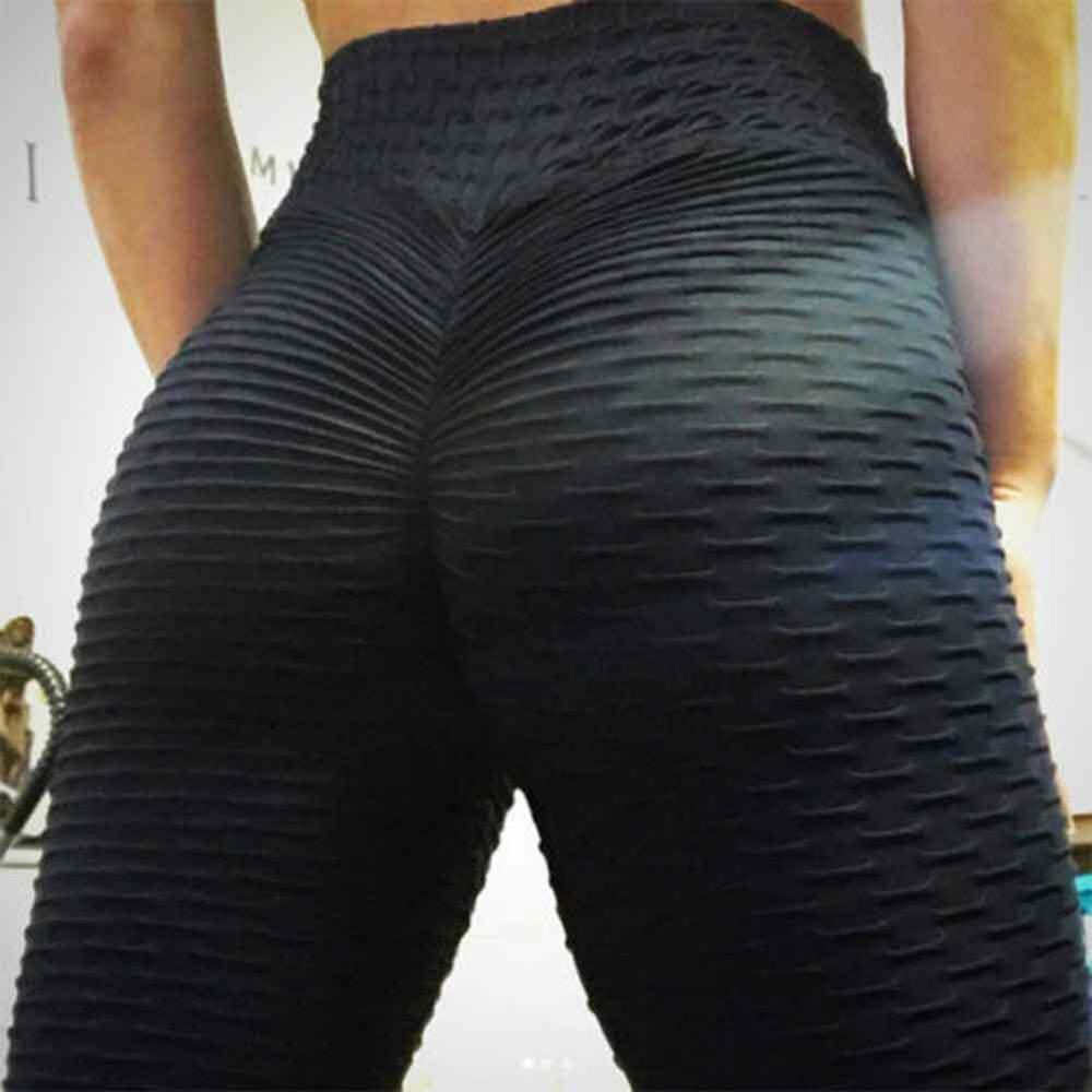 Women Anti-Cellulite Yoga Pants White Sport Leggings Push Up Tights Gym Exercise High Waist Fitness Running Athletic Trousers