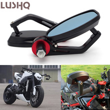 Motorcycle Bar End Mirror Moto Rearview Mirrors For HONDA cbr 600 f4i cbr 650f dominator msx125 silver wing cbf 1000 ruckus
