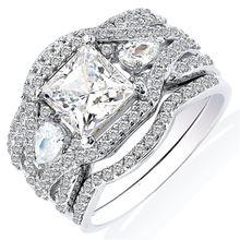 Романтическое роскошное женское кольцо модный женский комплект
