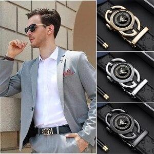 Image 3 - WILLIAMPOLO גברים של חגורת אופנה עור אמיתי רצועת מותניים יוקרה מותג חתונה חגורת ג ינס לגברים אוטומטי אבזם חגורות