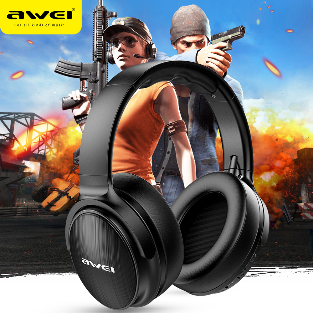 AWEI A780BL Bluetooth 5.0 Music Headset Foldable Gaming Headphones Wireless  & Wired Design 15 hours Talk Time Support TF card|Bluetooth Earphones &  Headphones| - AliExpress