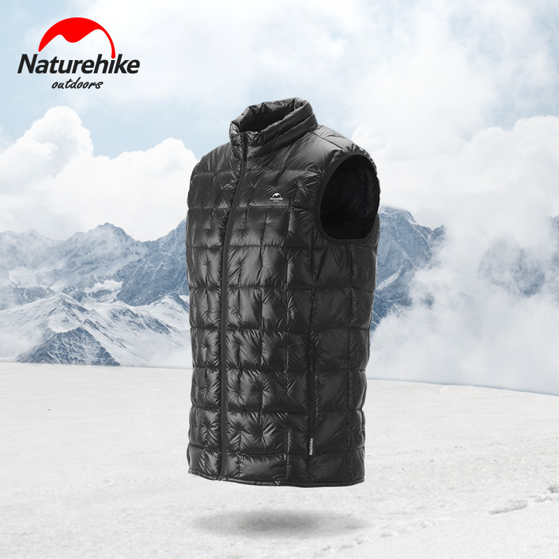 Naturehike New Ultralight Outdoor Down Jacket 95% White Goose Down Winter Autumn Keep Warm Men Women Down Vest 1000 Fluffy Down