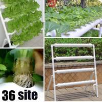 Kit de cultivo hidropónico Horizontal de 4 capas, 36 plantas de plantación, Caja de cultivo de plantas, sistema de cultivo de agua profunda