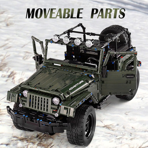 Image 4 - Mould King MOC Technic RC Jeeps Wranglered Adventurer Off road truck model building blocks Bricks kids Toys boys Birthday gifts