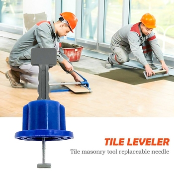50Pcs Flat Ceramic Tile Leveler Floor Reusable Wall Leveling System Construction Bricklayer Positioning Fitting