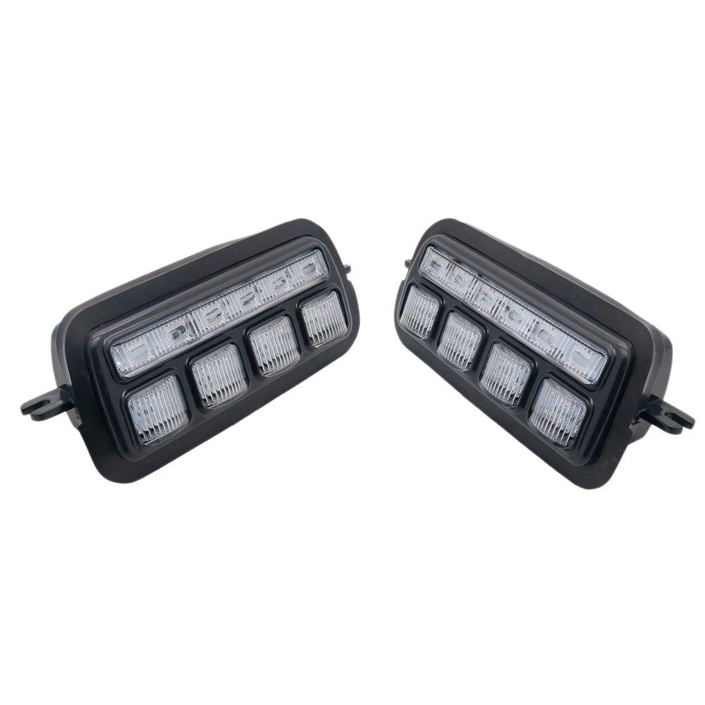 2 adet için geçerli Lada Niva 4X4 1995 + Led gündüz çalışan işık sinyal ışığı Drl araba far değiştirme parçaları