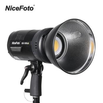 NiceFoto 3200K-6500K Bi-color LED Video selfie studio Light 100W Dimmable Photography Fill Light Stepless Adjustment CRI 95+