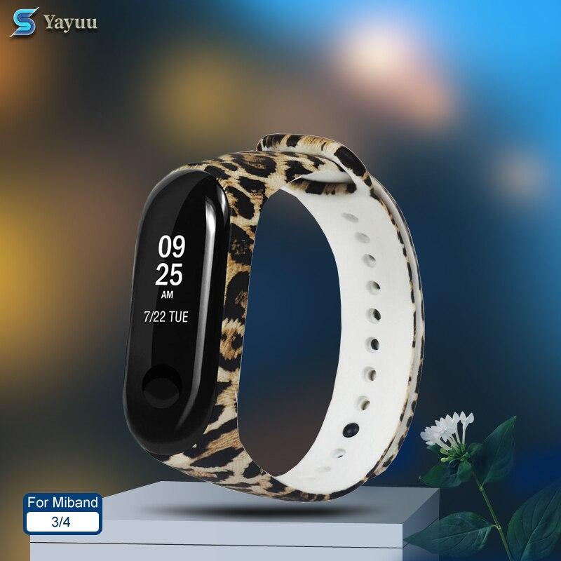 YAYUU Print Silicone Wrist Strap For Xiaomi Mi Band 3 Replacemet Camouflage Wristband For Mi Band 4 3 Bracelet Strap