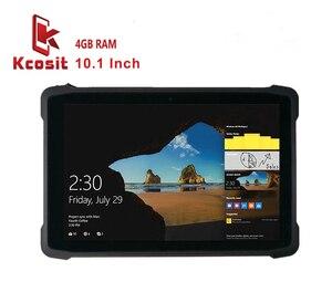 2020 komputer/Tablet przemysłowy wytrzymały wodoodporny Windows 10 Home 10.1 Cal Z8350 4GB RAM 64GB Rom 2D skaner kodów kreskowych K11H GPS USB 4G