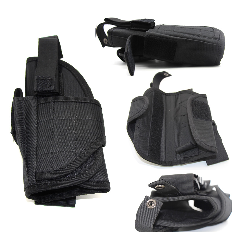 Tactical Left Right Gun Drop Leg Holster Pouch For Glock Beretta M9 Airsoft Pistol Thigh Holster Adjustable Universal Gun Case in Holsters from Sports Entertainment