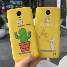 For Xiaomi Redmi Note 3 Case Cartoon Cactus Banana Printed Silicone Phone