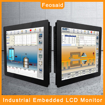Feosaid 15.6 inch 14 industrial monitor 18.5 17.3 Resistance Touch screen display Tablet Monitor VGA DVI input for pc 19 21 5 23 6 inch monitor vga dvi resistance usb touch lcd computer display screen open frame computer monitor screen 1440 900