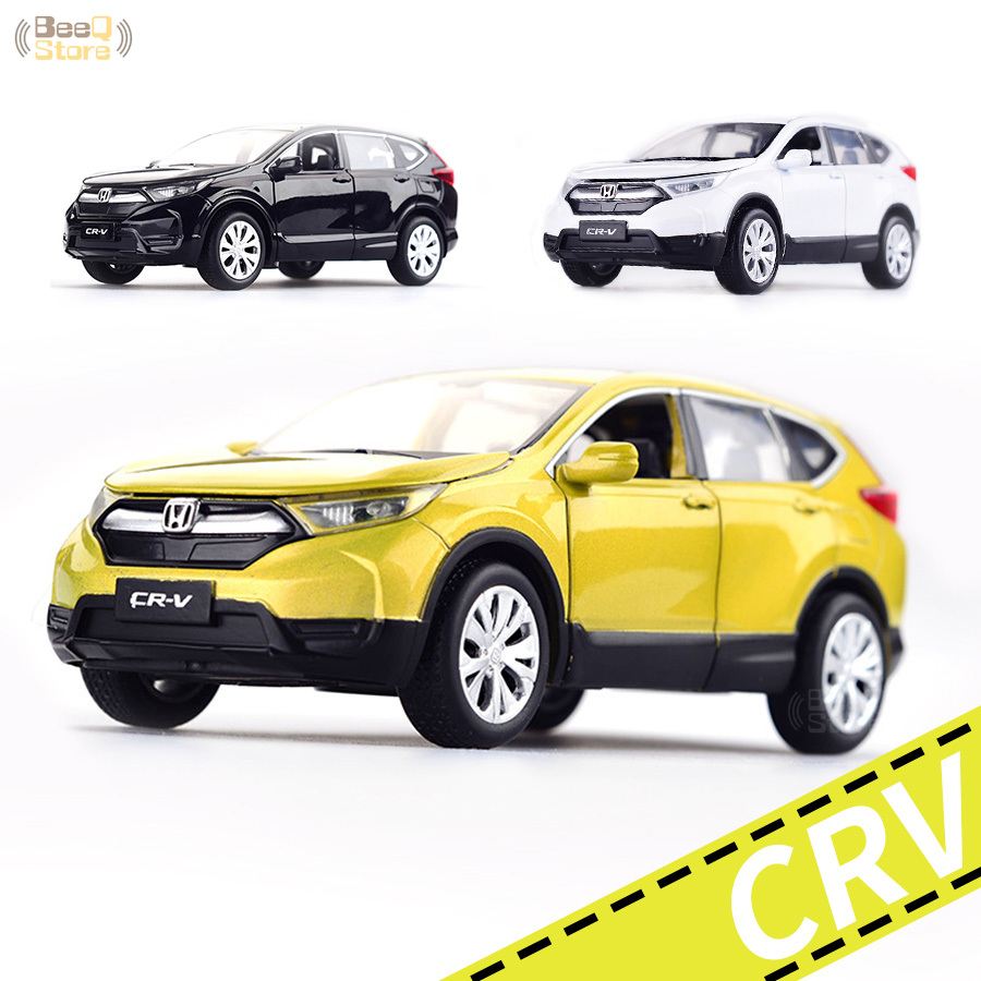 Car Model Car Toy Vehicles 1/32 <font><b>Honda</b></font> CR-V <font><b>Diecasts</b></font> Toy Vehicles With Sound Light Pull Back Car Birthday Gift Collection image