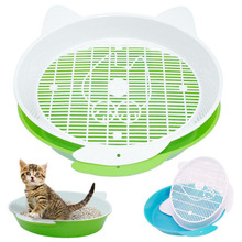 Cat-Litter-Box Tray Pet-Trainer Pee-Toilet Rabbit Sifting Cats Plastic Cleaning
