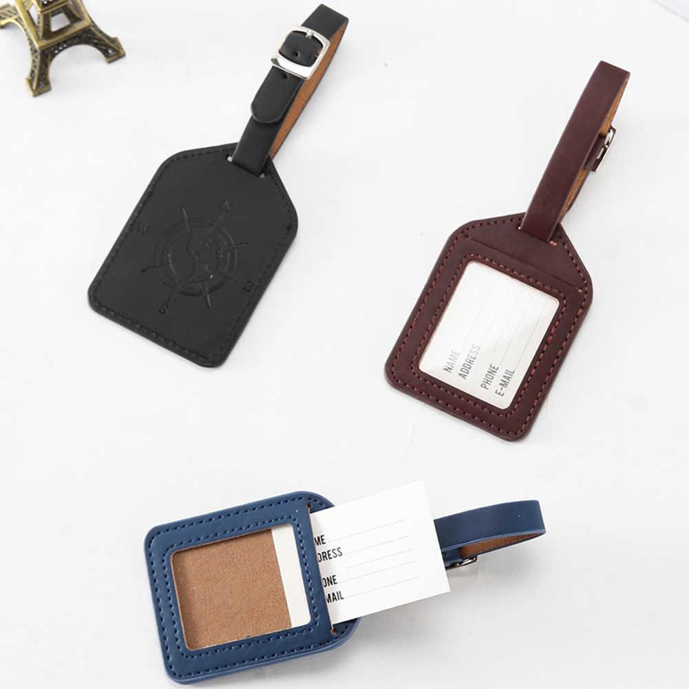 Sales Suitcase Leather Luggage Tag Bag Pendant Handbag Travel Accessories Name ID Address Wedding Invitation Label