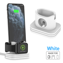 Multifunctional Charging Dock Station Base Holder Charger Silicone Desk Charging Base For Airpods For Most Type Smart Phone