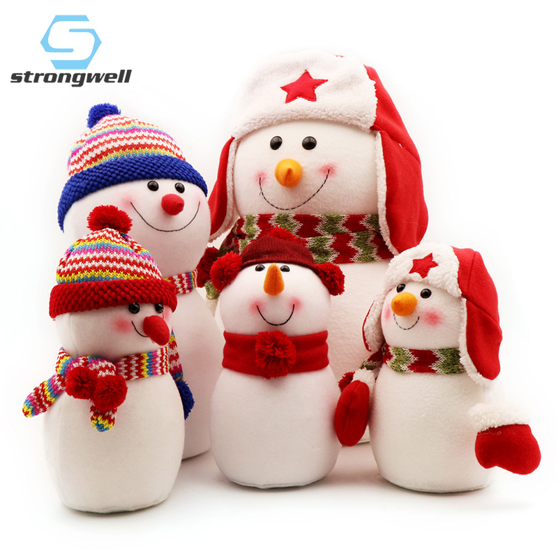 Strongwell Snowman Doll Statue Handcrafts Christmas Sets Christmas Tree Decoration Accessories Figurine For Children Gift Cute title=
