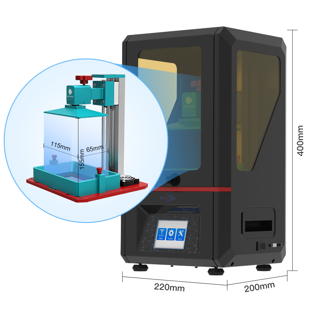 Image 5 - ANYCUBIC Photon SLA 3D Printer Plus Size 2K Touch Screen Quick Slice LCD UV Resin Printer stampante 3d impresora 3d impressora3D Printers   -