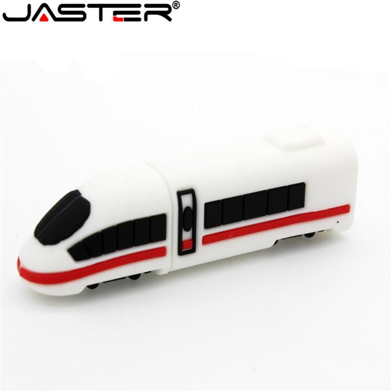 JASTER High-speed Rail Train USB Flash Drive Motor Car Locomotive Pen Drive Real Capacity Moto Pendrive 4g 16gb 32gb 64gb U Disk