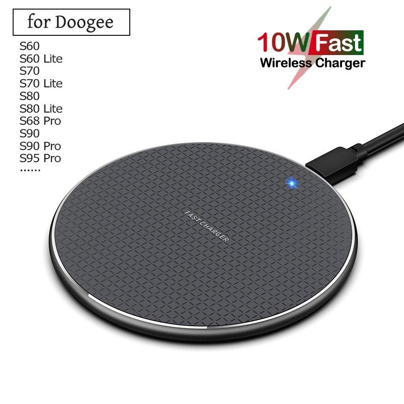 Qi 10 Вт быстрая Беспроводная зарядка для Doogee S90C S90 S95 S68 S88 Pro Plus 5 Вт Беспроводное зарядное устройство для телефона Doogee S60 S70 S80 Lite