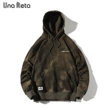 UnaReta Sweatshirts Men New Tie dyeing Print Pullover Sweatshirts Hoodies Streetwear High quality Hip Hop Tops Casual Hoodie Man