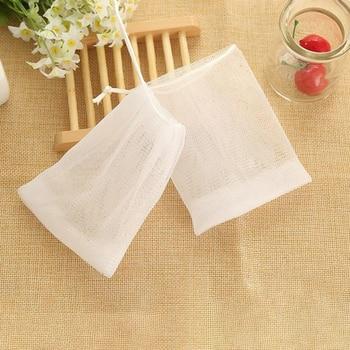 10pcs Soap Saver Mesh Net Bags Shower Bath Suds Foaming Net Bubbles Maker Washing Tool Bathroom Accessories