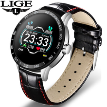 цена на LIGE Smart Watch Men Fitness Smart Watch heart rate blood Pressure Monitor waterproof Pedometer for Android ios Sport smartwatch
