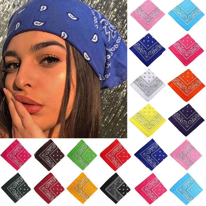 Bandana Turban Square Scarf Hair-Accessories Print Girls Bohemian Kids Unisex Women 17KM