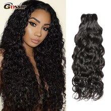 100%Human-Hair-Bundles Water-Wave Brazilian-Hair Gossip Remy with 3-Bundles