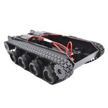 ضوء واجب امتصاص الصدمات خزان المطاط الزاحف هيكل السيارة عدة تتبع مركبة دبابة مع جهاز للتحكم عن بُعد روبوت ذكي لتقوم بها بنفسك ألعاب روبوتية