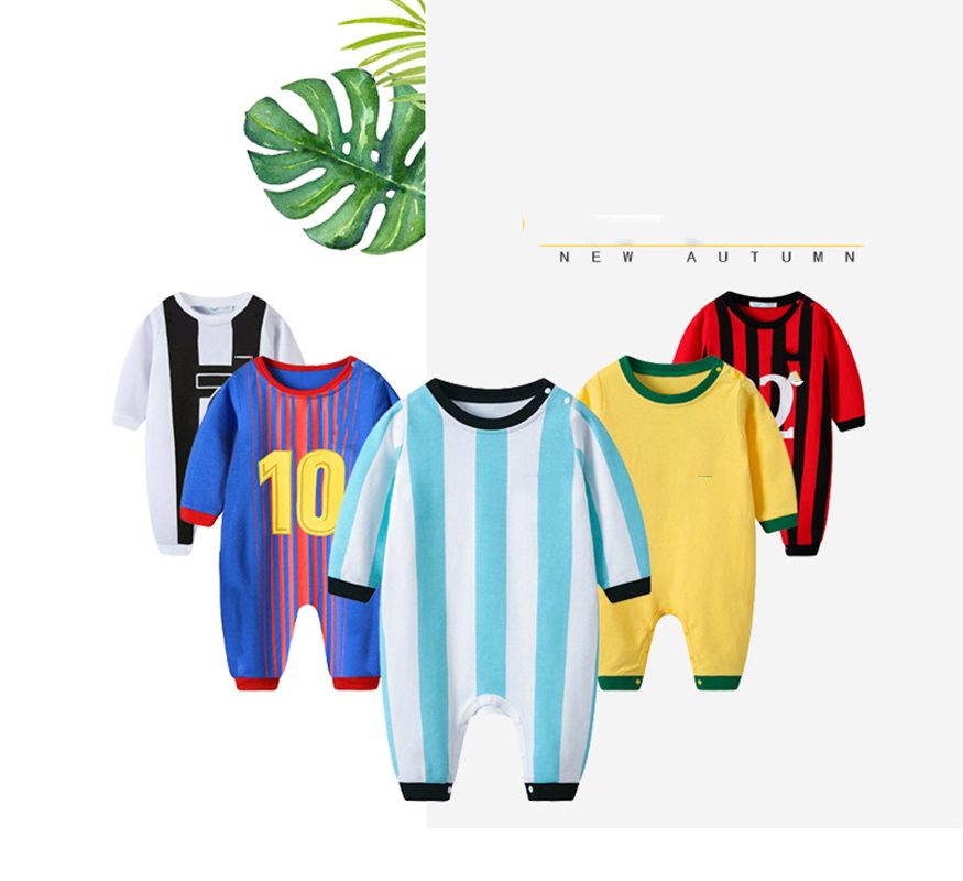 Baby Football Suit Climb   Rompers   Children Sport Jumpsuit Kids Cotton Long Sleeve Soccer Clothes Football Club