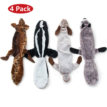 Hipidog  Free Shipping 4Pcs Plush Pet Toys Interactive Squeaky Dog for Large Dogs Dropshipping