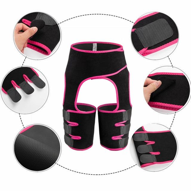 Corset Secret Neoprene Shaperwear Women High Waist Embossed Thigh Trimmer Tummy Control Sauna Effect Waist Trainer Slimming Belt 1