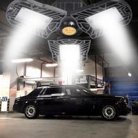 Светодиодная гаражная лампа UFO деформационная промышленная лампа E27/E26 светодиодная лампа высокого залива 60/80 Вт мастерская парктроник скла...